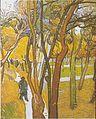 Van Gogh - Spaziergänger im Park mit fallenden Blättern.jpeg