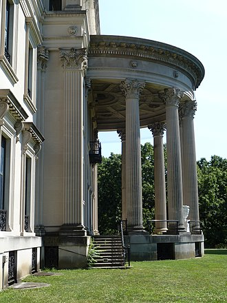 Vanderbilt Mansion National Historic Site - West portico