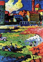 Vassily Kandinsky, 1908 - Munich-Schwabing with the Church of St-Ursula.jpg