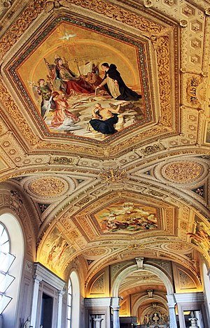Ceiling of one corridor in Vatican Museums, Va...