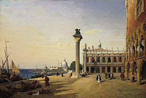 Venise, La Piazetta - Image: Venise, La Piazetta (Camille Corot)