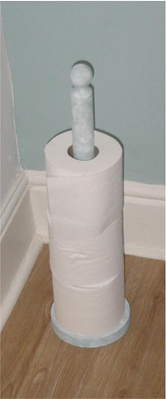Toilet roll holder - Vertical pole toilet roll holder