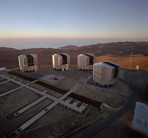 Very Large Telescope Array.aerial view