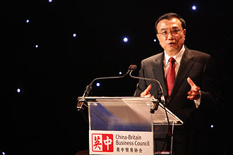 Li Keqiang - January 2011, Li attends the China-Britain Business Council dinner and delivers a speech.