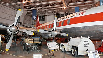 Royal Aviation Museum of Western Canada - Exterior of the Vickers Viscount