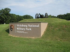 Vicksburg National Military Park - Image: Vicksburg park sign
