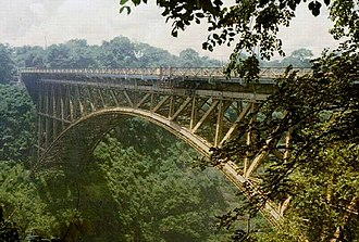 Victoria Falls Bridge - Image: Victoria Falls Bridge over Zambesi