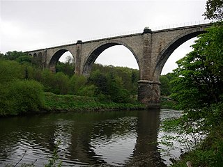 Victoria Viaduct rail viaduct spanning the River Wear in North East England