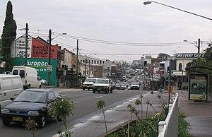 Victoria Road (Sydney) - Victoria Road at West Ryde