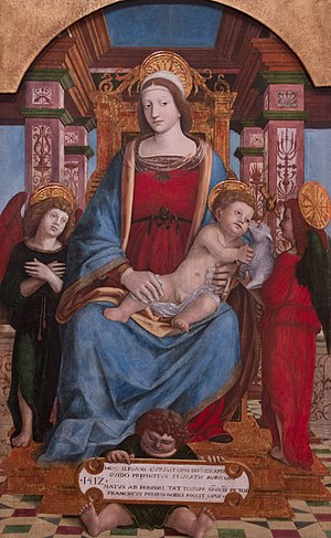 Francesco de Tatti - Virgin and Child accompanied by two angels, 1512, Museum of Fine Arts of Nancy.