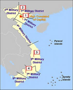 Subdivisions of Vietnam - Military regions of Vietnam
