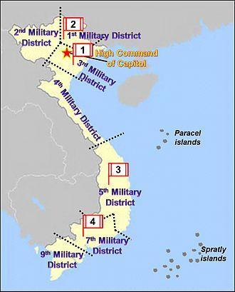 Subdivisions of Vietnam - Military regions of Vietnam