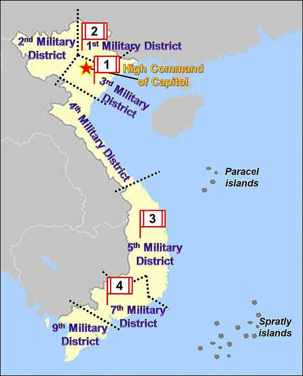 Vietnam Map with eight Military Districts and four Corps Vietnam Military Regions.jpg