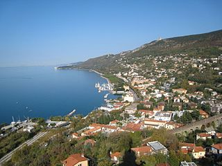 Barcola Neighbourhood in Trieste, Friuli-Venezia Giulia, Italy