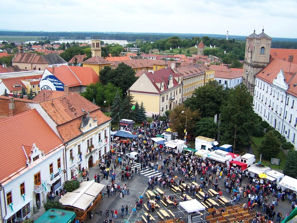 View from tower of church st michal during skalica days