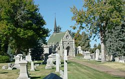 View of Fairmount Cemetery in Denver, Colorado.jpg