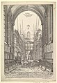 View of the Church of the Franciscans in Nuremberg under Reconstruction, from the series Views of Nuremberg MET DP822208.jpg