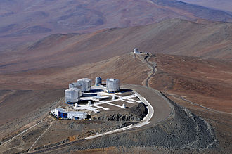 Paranal Observatory - Image: View of the Very Large Telescope