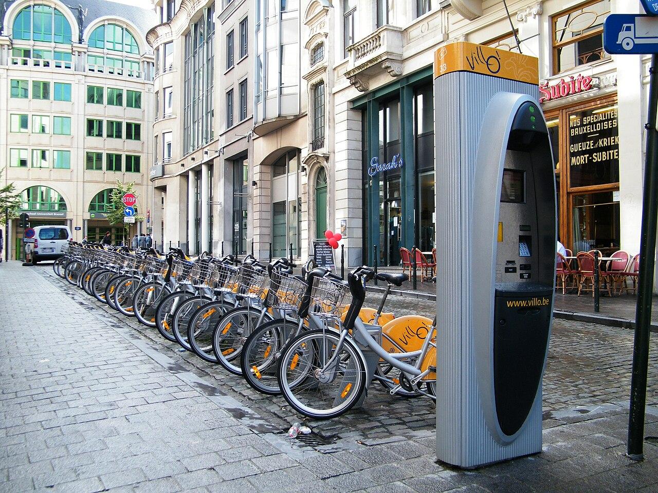 File Villo Bike Rental In Brussels