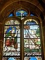 Vineuil-Saint-Firmin (60), église Saint-Firmin, verrière n° 0 - saint Jacques le Majeur et saint François d'Assise recevant les stigmates.JPG