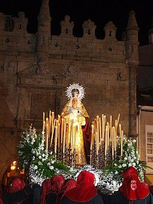 """Holy Week in Viveiro - The """"Virgen de la Clemencia""""."""