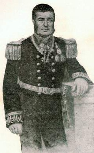 """Passage of Humaitá - Joaquim José Inácio.  A sick man, """"a ghost of an admiral"""", he thought the operation was impossible."""