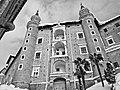 Vista dei Torricini innevati del Palazzo Ducale di Urbino, Marche.jpg