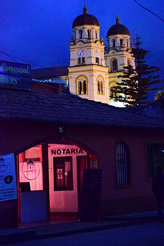 Guasca - Image: Vista nocturna de Iglesia San Jacinto