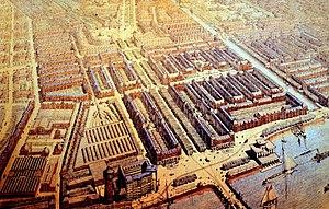Plan Zuid - H.P. Berlage. Vogelvluchtperspectief van Plan Zuid.