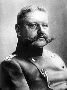 Paul von Hindenburg ještě jako generál pěchoty