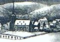 Vorgängerkirche in Oberwiesenthal Anfang 19. Jh..jpg