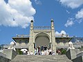 Vorontsov's Palace Facade, Alupka, Crimea.jpg