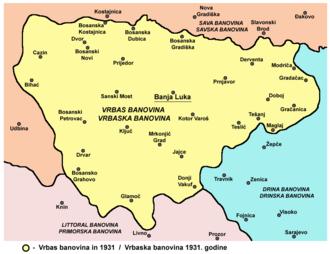 Vrbas Banovina - Image: Vrbaska banovina 1931
