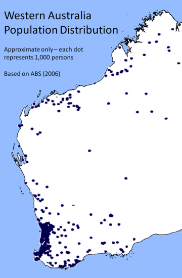 Distribution of the Western Australian population WApopDist2006.png