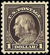 1st Franklin 1 Dollar Issued February 12 1912