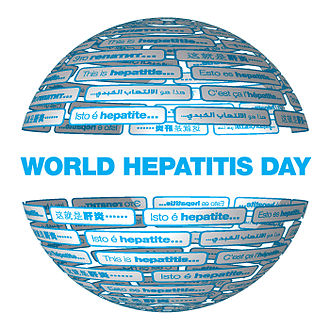 World Hepatitis Day - The World Hepatitis Day logo is the global symbol for encouraging better awareness, action, and support to prevent and treat viral hepatitis.