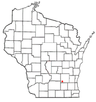 Location of Portland, Wisconsin