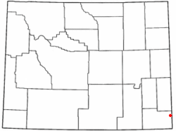 Location of Albin, Wyoming