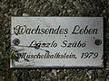 Wachsendes Leben László Szabó Hinweisschild.JPG