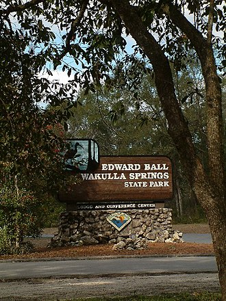 Edward Ball Wakulla Springs State Park - Entrance to the park turning off from 550 Wakulla Park Drive