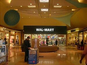 English: Walmart (indoor entrance) photographe...