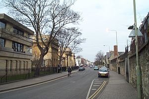 Walton Street - Looking north along Walton Street with the Oxford University Press on the left hand side.