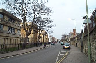 Walton Street - Looking north along Walton Street with the Oxford University Press on the left and Somerville College on the right hand side.