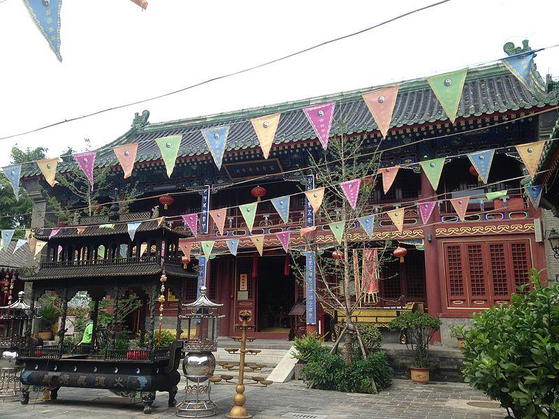 Wanshoujingming-Baoge Hall of Huode-Zhenjunmiao Temple.jpg