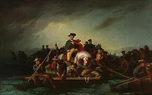 George Washington's crossing of the Delaware River - Washington Crossing the Delaware (1871), by George Caleb Bingham.