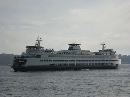 Washington has the largest ferry system in the United States. Washington State Ferry Tacoma.jpg