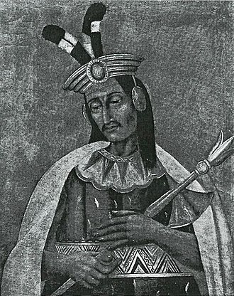 Inca Civil War - Huáscar, who was defeated in the war between him and his brother