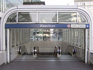 Waterfront station (Vancouver) - The entrance to Waterfront station, serving SkyTrain's Expo Line
