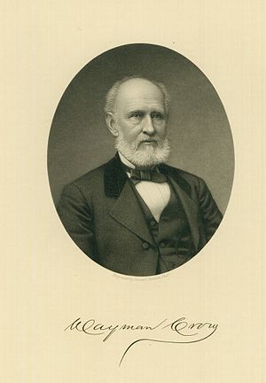 Wayman Crow - Steel engraving of Wayman Crow