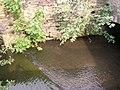 Weir across Clifton Beck, Clifton - geograph.org.uk - 190624.jpg